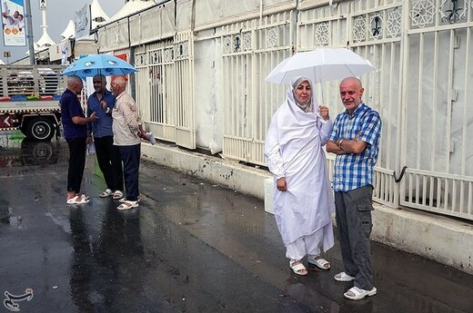 بارش باران در سرزمین منا
