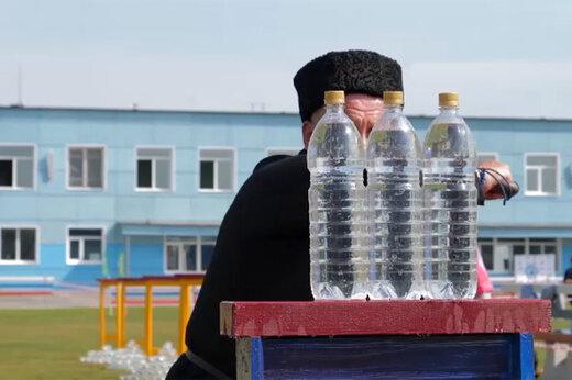 فیلم | مسابقه شمشیرزنی قزاقهای روسیه