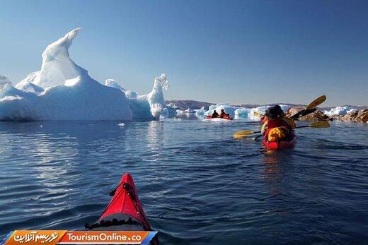 هفت: کایاکسواری در آبهای یخ قطبی –گرینلند-