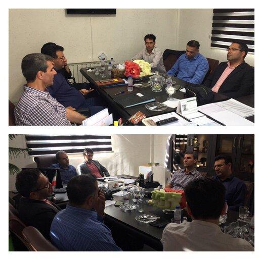 برگزاری نشست رئیس کمیته جوانان با رئیس هیات فوتبال البرز