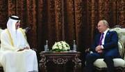 پوتین و امیر قطر درباره مسائل منطقه گفتوگو کردند