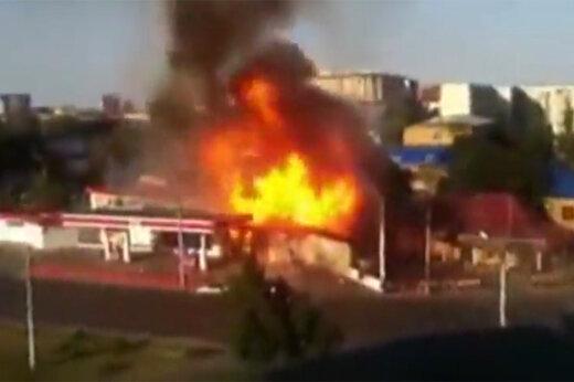فیلم | لحظه انفجار وحشتناک پمپ بنزین