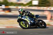 تصاویر   هیجان مسابقات موتور ریس در پیست آزادی