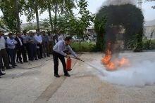 کارگاه آموزشی اطفاء حریق با گاز کلر در آبفار لرستان برگزار شد