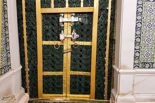 درب خانه حضرت زهرا(س) در مسجدالنبی