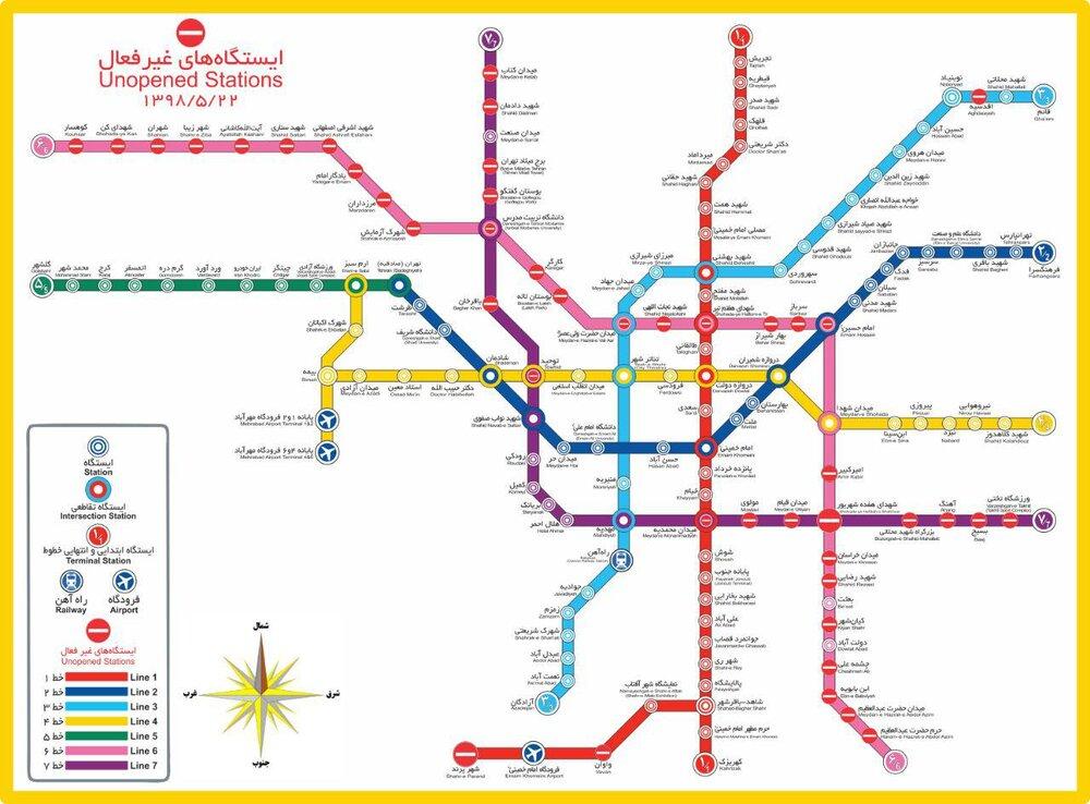 عکس جدید خطوط مترو تهران
