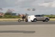 فیلم   لحظهای که رکورد سرعت دوچرخه سوار شکسته شد!