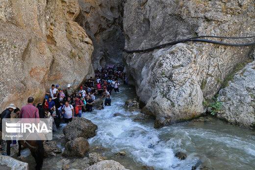 گردشگران در تنگه واشی