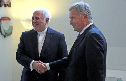 محورهای گفتگوی ظریف با رئیس جمهور فنلاند اعلام شد