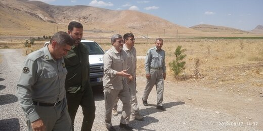 بازدید میدانی رئیس دفتر یگان های حفاظت کل نیروهای مسلح ازیگان حفاظت لرستان