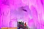 تصاویر | طبیعتی اعجاب انگیز در غارهای زنجیرهای یخی!