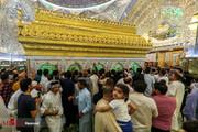تصاویر | حرم حضرت علی(ع) در روز عید غدیرخم