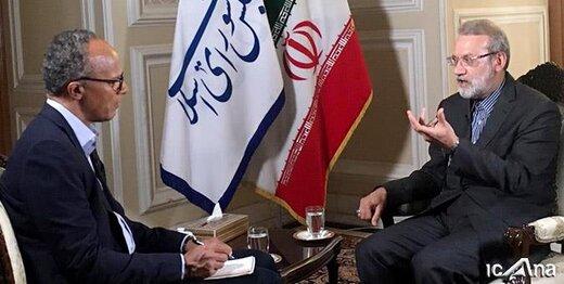 سوال چالشی لاریجانی از خبرنگار آمریکایی که بیپاسخ ماند
