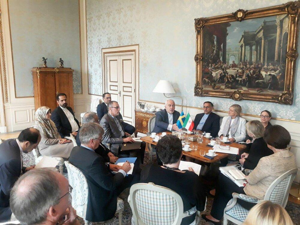 تصاویر | دیدار ظریف و وزیر خارجه سوئد در استکهلم