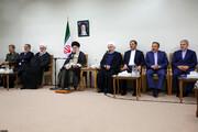 تصاویر | رئیسجمهور و اعضای هیئت دولت به دیدار رهبری رفتند