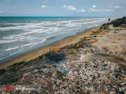 تصاویر | ساحل دریای خزر در زشتترین حالت ممکن!