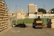 تصاویر | آمادهسازی ورزشگاه تختی ارومیه برای هفته دوم لیگ دسته یک فوتبال