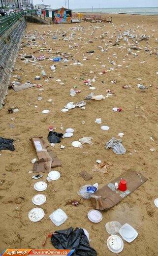 وضعیت ساحل پس از رفتن توریستها!