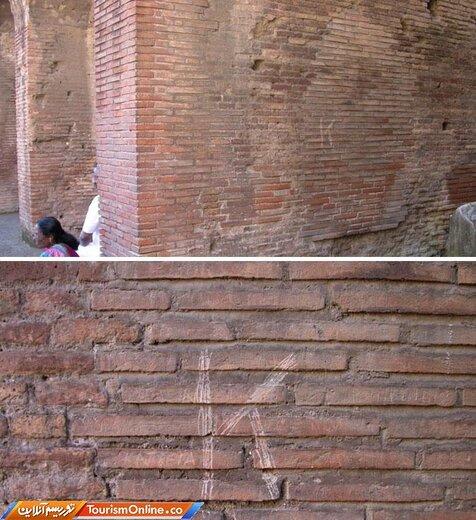 وقتی توریست روسی حرف اول نامش را بر دیواره کولوسئوم-رم- حکاکی کرد (او ۲۴ هزار دلار جریمه شد)