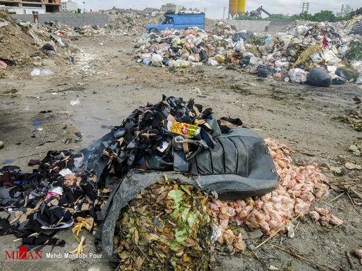 دریای زباله در ساحل خزر