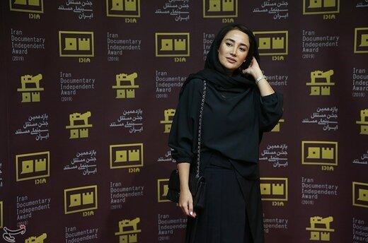 بهاره افشاری بازیگر در اختتامیه یازدهمین جشن مستقل سینمای مستند