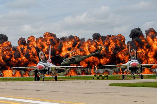 عملیات اسکادران نمایش هوایی نیروی هوایی ایالات متحده آمریکا در ایالت داکوتای جنوبی