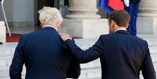 مکرون در دیدار با جانسون:از موضع خود درباره مرزهای ایرلند عقبنشینی نمیکنیم