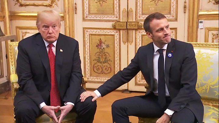 توئیت ترامپ پس از دیدار با مکرون