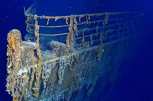 فیلم | تصاویر شگفت انگیز از بقایای کشتی تایتانیک