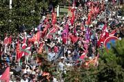 فیلم و عکس   تجمع مخالفان نشست گروه جی ۷