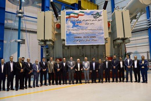 تحویل نخستین ترانسفورماتور نیروگاهی توان بالای ساخت شرکت آریا ترانسفو