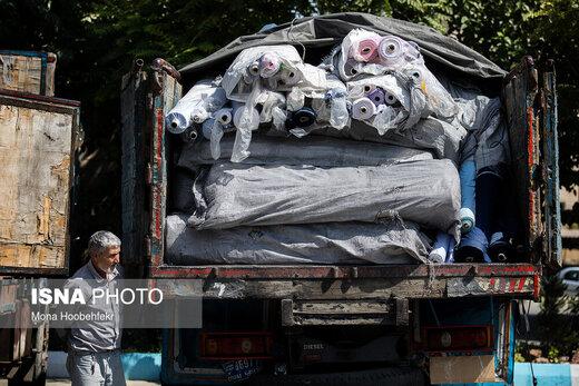کشف کامیونهای میلیاردی کالای قاچاق در تهران
