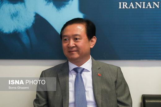 توئیت سفیر چین در مورد حمایت از ایران در مبارزه با کرونا