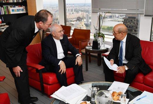 مسؤول فرنسي: المحادثات بين ماكرون وظريف كانت ايجابية