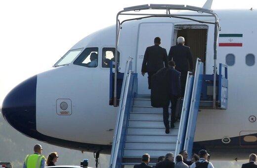 ظريف يغادر بياريتس عائدا الى طهران