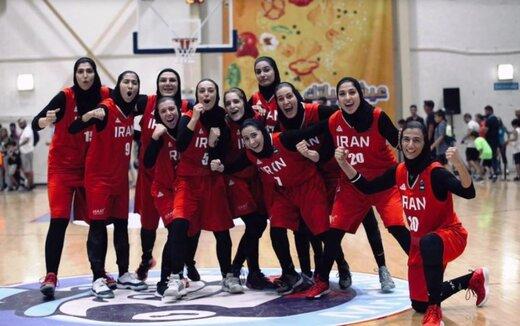 تاریخسازی تیم ملی بسکتبال زنان