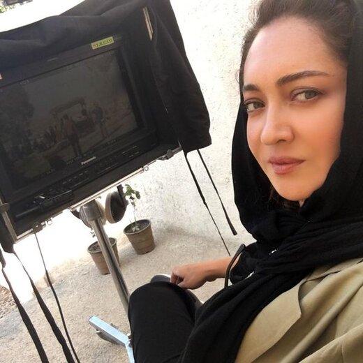 نیکی کریمی در حال فیلمبرداری / عکس