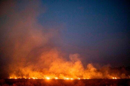آتشسوزی بزرگ در یک برج اقامتی در مشهد؛ ۲۰ نفر از مرگ گریختند
