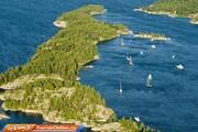تصاویر   دریاچه هیوران کانادا بزرگترین خط ساحلی دریاچهای