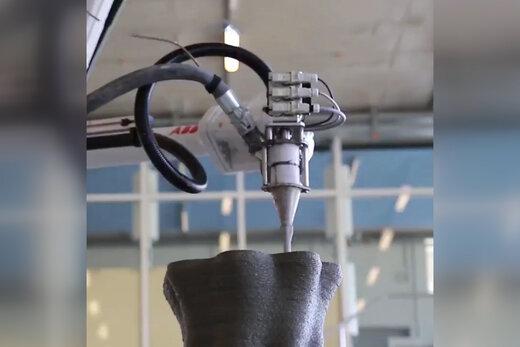 فیلم   تولید بتن با پرینترهای سه بعدی