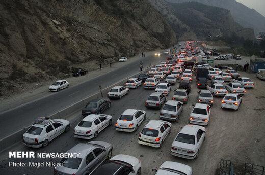 اعلام وضعیت جادههای هراز و چالوس برای عصر امروز
