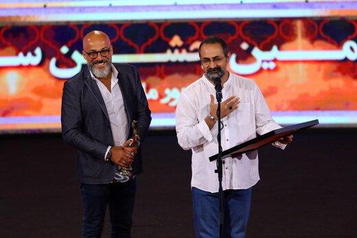 وحید جلیلوند و امیر آقایی در بیست و یکمین جشن سینمای ایران