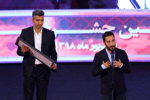 عادل فردوسی پور و نوید محمدزاده در بیست و یکمین جشن سینمای ایران