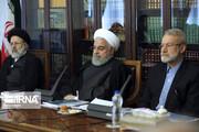 تصاویر | جلسهای اقتصادی با حضور روحانی، رئیسی و لاریجانی