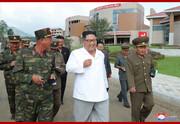 رهبر کره شمالی در حال قدم زدن است!