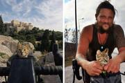 فیلم | سرنوشت جالب یک گربه پس از آشنایی با یک جهانگرد