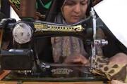 فیلم | زنان شهرکردی برای زائران اربعین حسینی بالش می دوزند