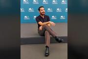 فیلم | نوید محمدزاده در جشنواره ونیز