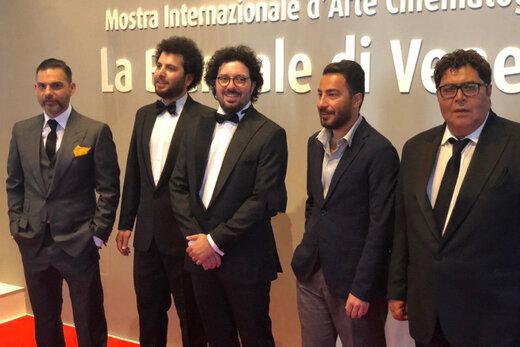 فیلم | خوشتیپ مثل پیمان معادی، نوید محمدزاده و فرهاد اصلانی در ونیز