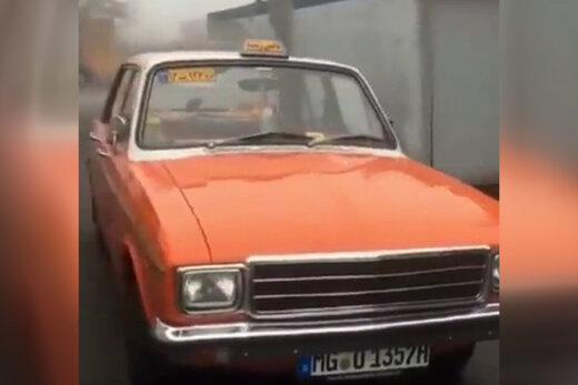 فیلم | تاکسی نارنجی خطی رشت در خیابانهای آلمان!
